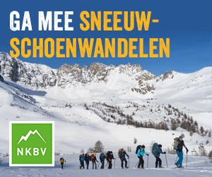 bergsportreizen sneeuwschoenen banner