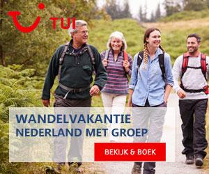 TUI Wandelvakantie Nederland banner